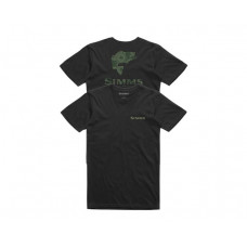 Bass Reel Fill T-Shirt Black M футболка  Simms