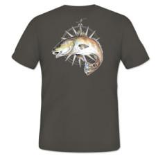 Simms Cochran Redfish Compass T-Shirt - SS - Gunmetal