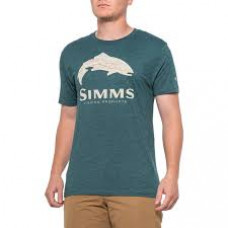 Simms Fire Hole Trout T-Shirt  Dark Teal Heather M
