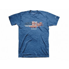Simms Flag Species T-Shirt - Short Sleeve Royal Heather L
