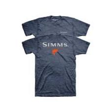 Logo Bass T-Shirt M Navy Heather футболка Simms