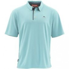 Simms Polo Shirt - UPF 50+ Light Turquoise M