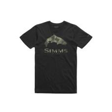 Simms Trout Pine Camo T-Shirt Black L