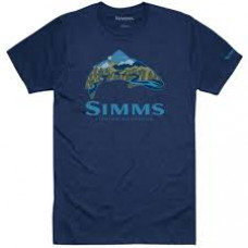 Simms Trout Scape T-Shirt Navy Heather S