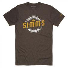 Simms Wader Montana T-Shirt Brown Heather L