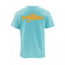 Woodblock Tarpon T-Shirt Gulf Blue M футболка Simms