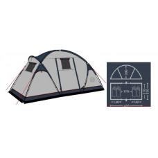 Палатка кемпинговая FHM Cassiopeia 4  Синий/Серый