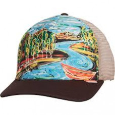 Simms Artist Dripping Trees Trucker Hat  Bark