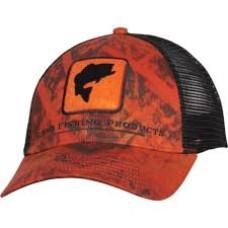 Simms Bass Icon Trucker Hat Velocity Print Orange