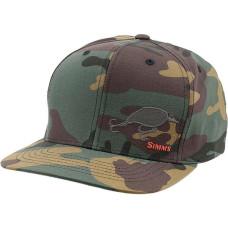 Simms Cotton Twill Snapback Hat Woodland Camo