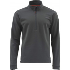 Simms Midweight Core Shirt - Zip Neck  Carbon  S