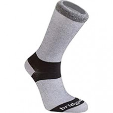 Bridgedale Everyday Outdoors CoolMax Liner Hiking Socks Crew  Grey M