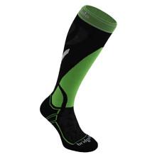 Bridgedale Merino Fusion Vertige Mid Ski Socks  Black/Lime  M