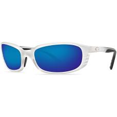 Costa Brine Sunglasses - Polarized Mirror 580P Lenses Matte Crystal Blue