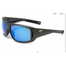 Costa Montauk Sunglasses - Polarized 400G Glass Mirror Lenses Matte Steel Gray/Metallic Blue