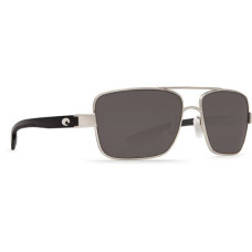 North Turn Sunglasses - Polarized 580G Palladium/Shiny Black/Gray очки CostaDelMar