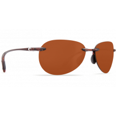 Costa West Bay Copper Polarized Aviator 580  Brown / Tortoise  - Copper
