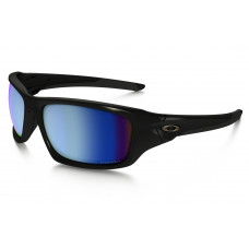 Oakley Valve Sunglasses - Polarized Black/Deep Blue