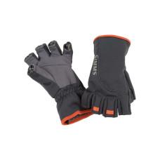 Simms Guide Polartec Windbloc Half-Finger Gloves Raven  M