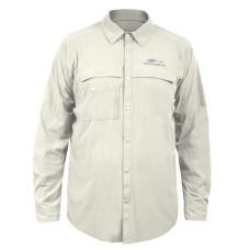 Grundens Hooksetter Shirt UPF 30 Egret M