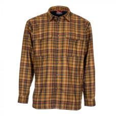 Simms ColdWeather Shirt  Dark Bronze Admiral Plaid XL
