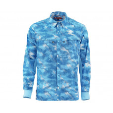 Intruder BiComp Shirt Hex Camo Sky Blue L рубашка Simms