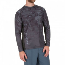 Simms Challenger Solar Tech Jersey Shirt - UPF 30+ L Hex Flo Camo Carbon