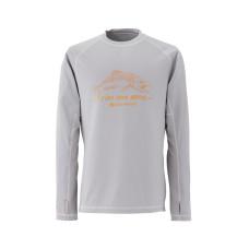 Redington Drifter Crew Shirt - UPF 50 Smoke L