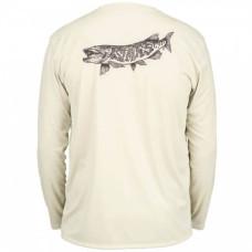Simms Solar Tech T-Shirt - UPF 30+ Simms Muskie Sand  M
