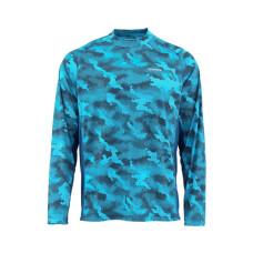 Solarflex Crewneck Prints Hex Camo Cobalt L блуза Simms