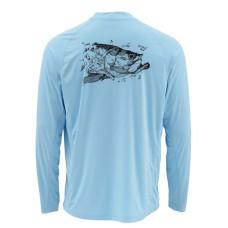 Simms SolarFlex Shirt - UPF 50+ Tarpon Glacier M