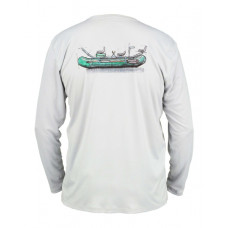Simms Solar Tech T-Shirt - UPF 30+ Raft Schematic Sterling L
