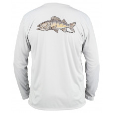 Simms Solar Tech T-Shirt - UPF 30+ Walleye Sterling M