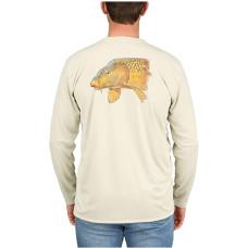 Simms Solar Tech T-Shirt - UPF 30+ Carp Sand L