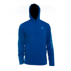 The American Outdoorsman Printed Hooded T-Shirt Classic Blue L UPF 40+