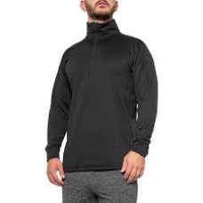 Kenyon Polartec Power Wool Base Layer Top Zip Neck Wool Black L