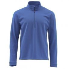 Simms Midweight Core Shirt - Zip Neck Rich Blue M