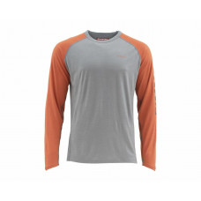 Simms Ultra-Wool Core Shirt Merino Wool Zip Neck Simms Orange S